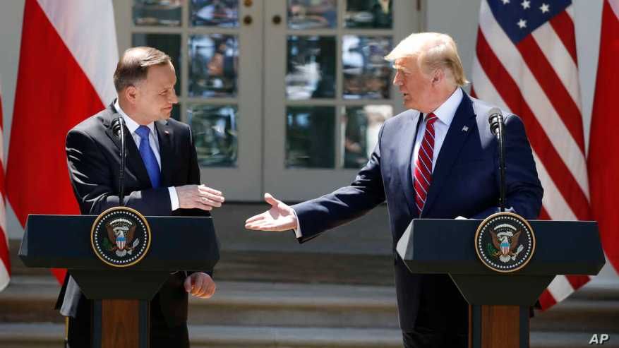 Donald Trump, Andrzej Duda, Melania Trump, Agata Kornhauser-Duda