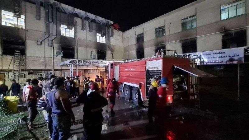 fire covid hospital