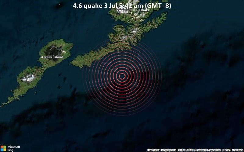earthquake Bering sea Alaska