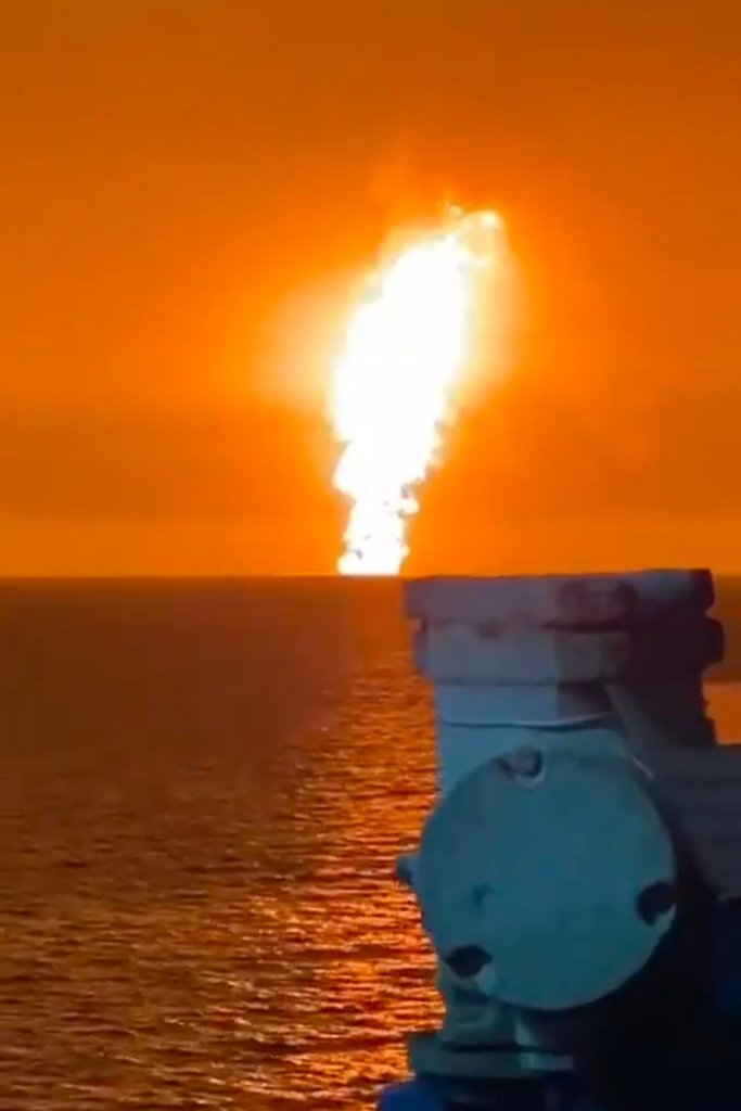 Caspian sea explosion